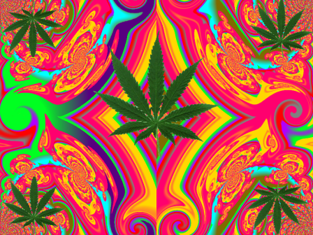 Marijuana Leaf Kaleidoscope